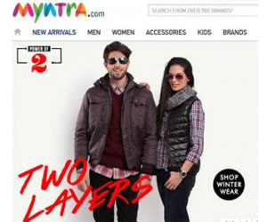Myntra.Com is another Indian online shopping website founded in 2007.
